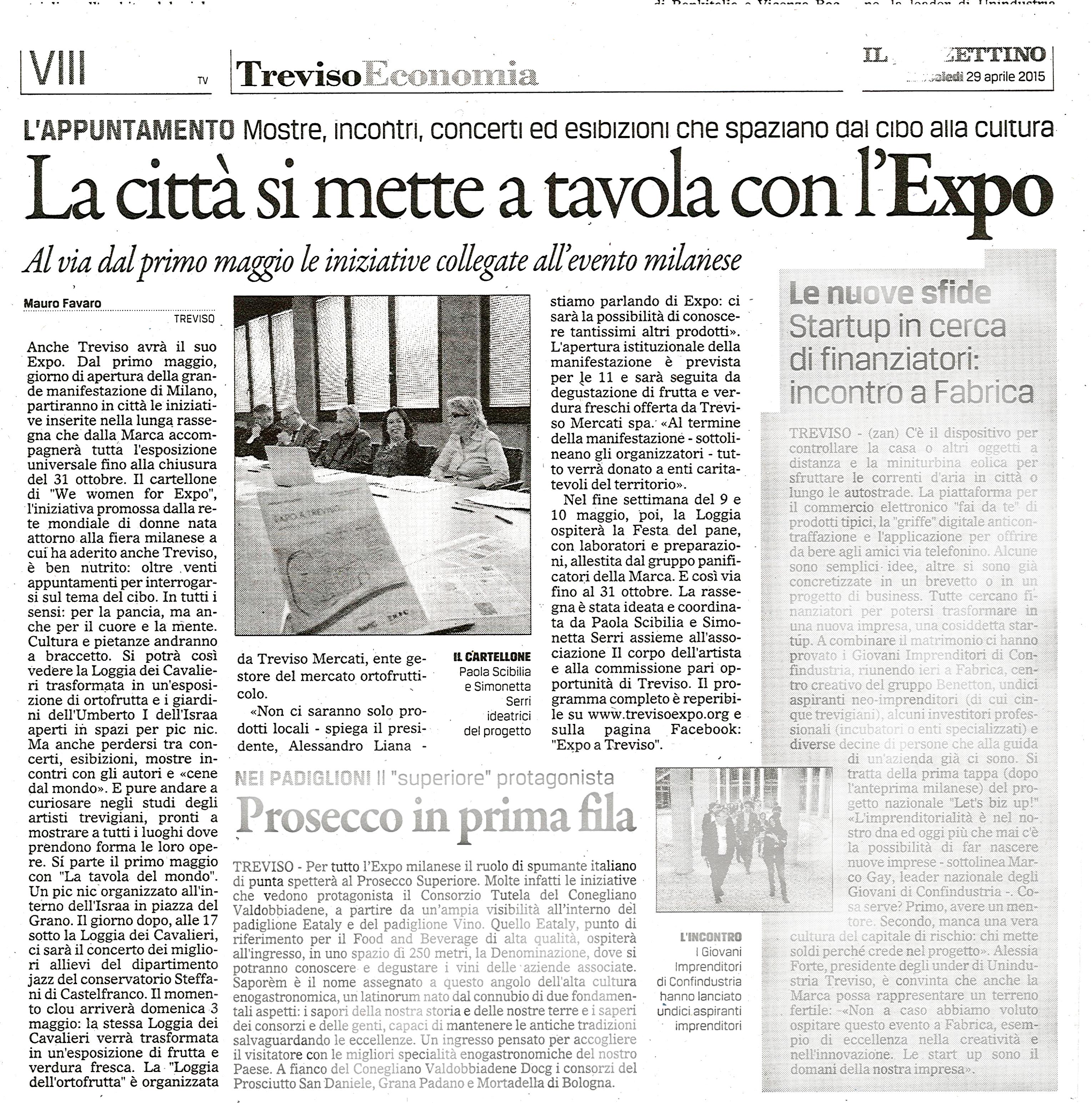 il gazzettino - Expo 2015 Treviso